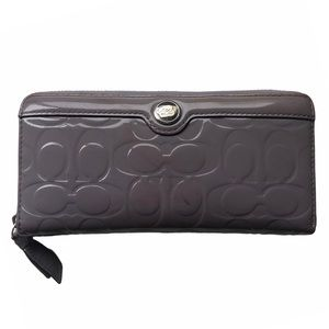 Coach Patent Leather Embossed Wallet